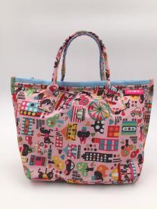 China Colorful 210D Ripstop Polyester Handbags Ladies Fashion Handbags Reusable on sale