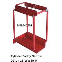 Narrow Type Compressed Gas Cylinder Storage Racks With Chain Divider / Lockable Pin