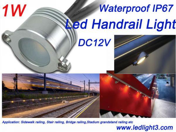 1w epistar led handrail railing light dc12v waterproof ip67 for