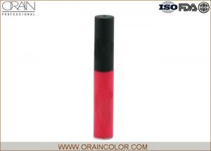 China Fresh Red Color Kiss Proof Lip Gloss Cosmetics , Colorful Bottle Long Lasting Lip Gloss on sale