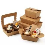 Disposable Eco Friendly Kraft Paper Takeaway Containers