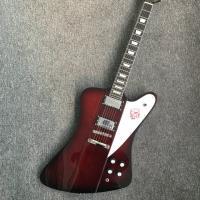 China Chibson firebird electric guitar dark red finish firebird guitar free shipping honeyburst firebird guitar on sale