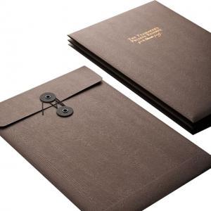 China custom high quality luxury black a4 string document envelope,cheap string document envelope on sale
