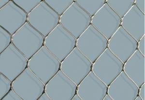 China flexible stainless steel rope mesh net on sale