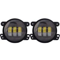 China OEM Auto Parts Car Accessories 30W 4Inch Led Fog Light lamp With Angel Eyes 4 Motorcycle projector Fog Lights Led witho on sale