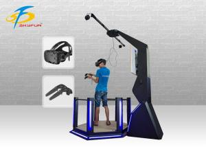 China Arcade Game HTC Vive Simulator / Black Color 9D VR Standing Platform on sale