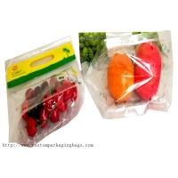 China Color Printed Fruit Packaging Bags Laminated Bunch Zipper Lock Moisture Proof on sale