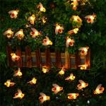 IP54 LED Fairy String Lights Solar Honey Bee Lights Garden Decoration