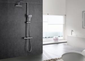 China Dual Handle Wall Mounted Thermostatic Shower Set ROVATE 5 Mode Handle Shower on sale