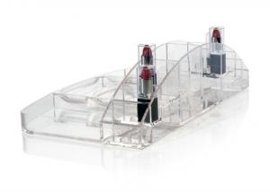 China Acrylic Clear Cosmetic Organizer , Table Business Card Holder on sale