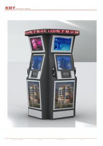 China Os multimédios Dual quiosque ereto livre do jogo da tela com teclado on sale