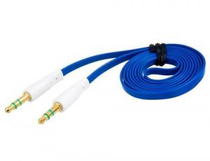 China 1.0 m 3.5 mm Port Audio Flat Extension Cable (Blue) on sale