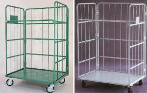 China Stackable Roll Cage Trolley Anti  Static Powder Coated Nestable Roll Cages on sale