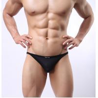 V - Shaped Mens See Thru Underwear Black Mens Mesh Briefs Underwear
