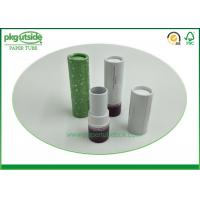 Eco Friendly Cardboard Lipstick Tubes , Brown Paperboard Push Up Lip Balm Tubes