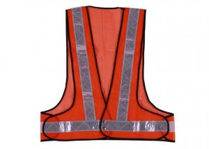 China Fluorescent Hi Vis Safety Vest With PVC Tape And 100% Polyester Mesh Fabric on sale