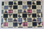 Esteras de mesa de comedor de moda del bordado con la impresión de pantalla de seda