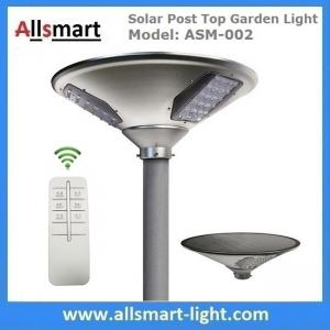 China 20W 2000lm Solar Post Top Garden Lights All In One Solar Pathway Garden Lamp with Post Pole for Driveway on sale
