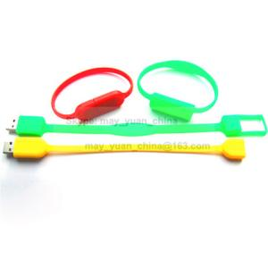 China Creative silicone wristband new bracelet wrist strap band Gifts USB Flash Drive on sale