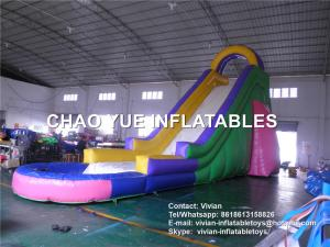 China Adult Giant Inflatable Water Slides Inflatable Bouncer Slide For Playing Center on sale