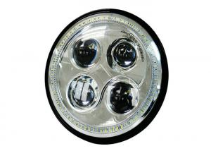 China Dual Beam Harley Davison Led Headlights With Osram Auto Lighting Led 4 Pieces on sale