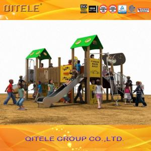 China Safety Kids Outside Play Equipment With Plastic Wood Composites on sale