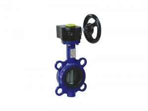 China Worm Gear Operated  Wafer Lug Type Butterfly Valve  High Performence on sale