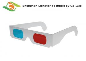 China 3D Theater System Red Cyan Anaglyph 3d Glasses 0.2mm PET Lenses CE FDA EN71 SGS on sale