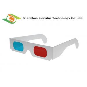 China 3D Theater System Red Cyan Anaglyph 3d Glasses0.2mm PET Lenses CE FDA EN71 SGS on sale