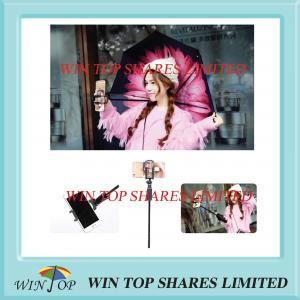 China Creative UV proof flower Umbrella with selfie stick on sale