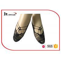Pure Ladies Black Ankle Socks Hallow Out Girls Nylon Footies Socks