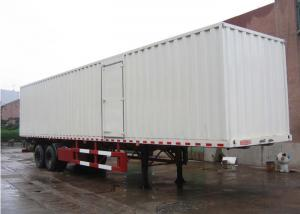 China 13m Curtain Side Semi Trailer Steel Box Double Axles for Dry Freight Cargos on sale