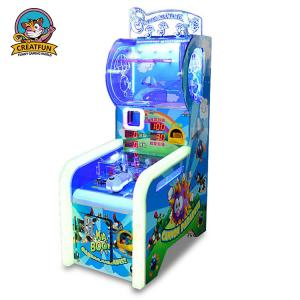 China Ball Shooting Ticket Redemption Game Machine Colorful LED Light With Music on sale