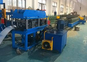 China C Channel Cable Tray Roll Forming Machine , Gear Box Driven Cable Tray Making Machine on sale
