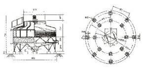 China Tours rondes fiables à faible bruit industrielles de refroidissement par l'eau de CTNC mini avec l'enveloppe de FRP on sale