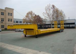 China 3 Lines Lowboy Semi Trailer 6 Axles 40-120 Tons With Anti Corrosive Primer Coating on sale