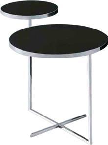 Quality ガラス金属のソファーの側面のテーブル、緩和された黒いガラス端テーブル、円形のガラス端テーブル for sale