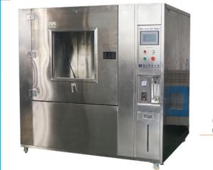 China PLC Touch Screen Climatic Test Chamber , IPX9K 5RPM Rain Spray Test Chamber on sale