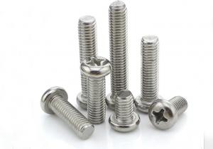 China Metric Small Thread Forming White Stainless Steel Trim Screws Fasten Metal Parts Together on sale