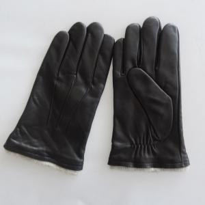 China Plain Mens Soft Leather Gloves Customized Size Custom Styles Eco - Friendly on sale