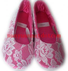 China Lace indoor ballerinas slipper for women size 36-41 on sale