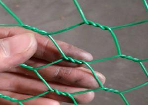 China Woven Type Hexagonal Chicken Wire Mesh With Durable Greem Power Coated  1 Inch Hole Size on sale