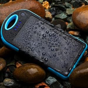 China Universal 12000mah Waterproof Solar Power Bank battery Charger For iPhone LG MI on sale