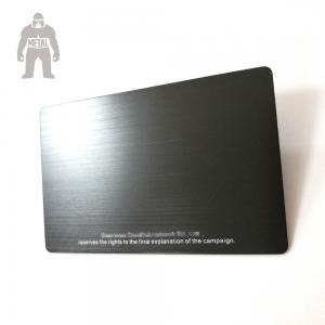 Blank Real Estate Gold Black Aluminium Business Cards High Technique  Laser Engraved