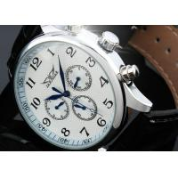 Vintage Large Face Mechanical Automatic Watches With 6 Hands , Swiss Wrist Watch