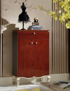 China Villa house Furniture Shoecase with drawers Ebony wood shoe cabinets for Hall furniture from China factory on sale
