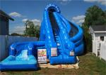 Giant Inflatable Corkscrew Water Slide / Double Inflatable Slip And Slide With Pool