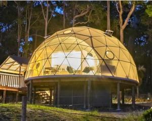 China Diameter 6M Half Sphere Geodesic Dome Tent For Warehouse With PVC Fabric Cover on sale