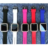 Alloy Case With Stones Touch Screen Digital Watch Silicone Strap