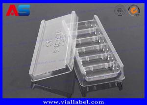 China Clear Transparent Tray Packaging Medication Blister Packs For Glass Vials , Engrave Words Blister on sale